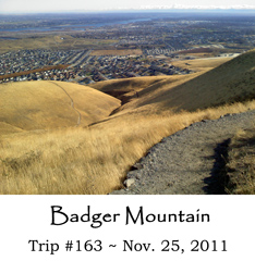 Trip 163 Badger Mountain 11-25-2011