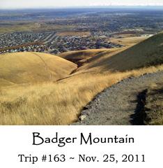 Trip 163 Badger Mountain 11-25-2011