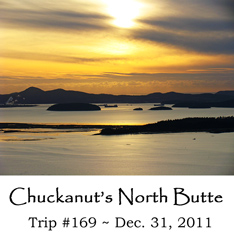 Trip 169 Chuckanuts North Butte 12-31-2011