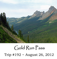 Trip 192 Gold Run Pass